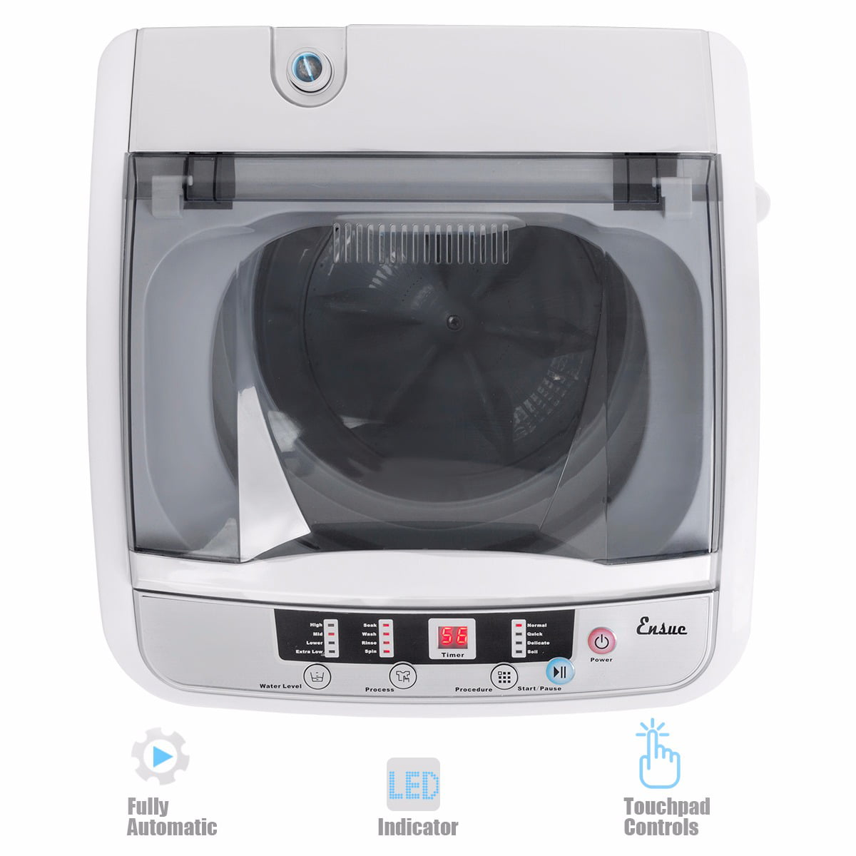 Automatic Mini Washer And Spinner Dryer Portable Compact