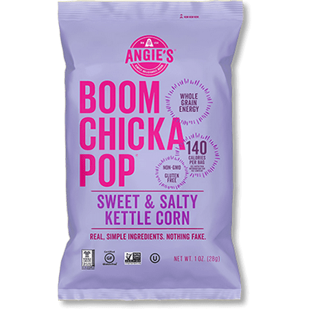 (3 Pack) Angie's Boomchickapop Kettle Corn, Sweet & Salty, 7 Oz, 1 Count (Salty Snacks For Halloween Party)