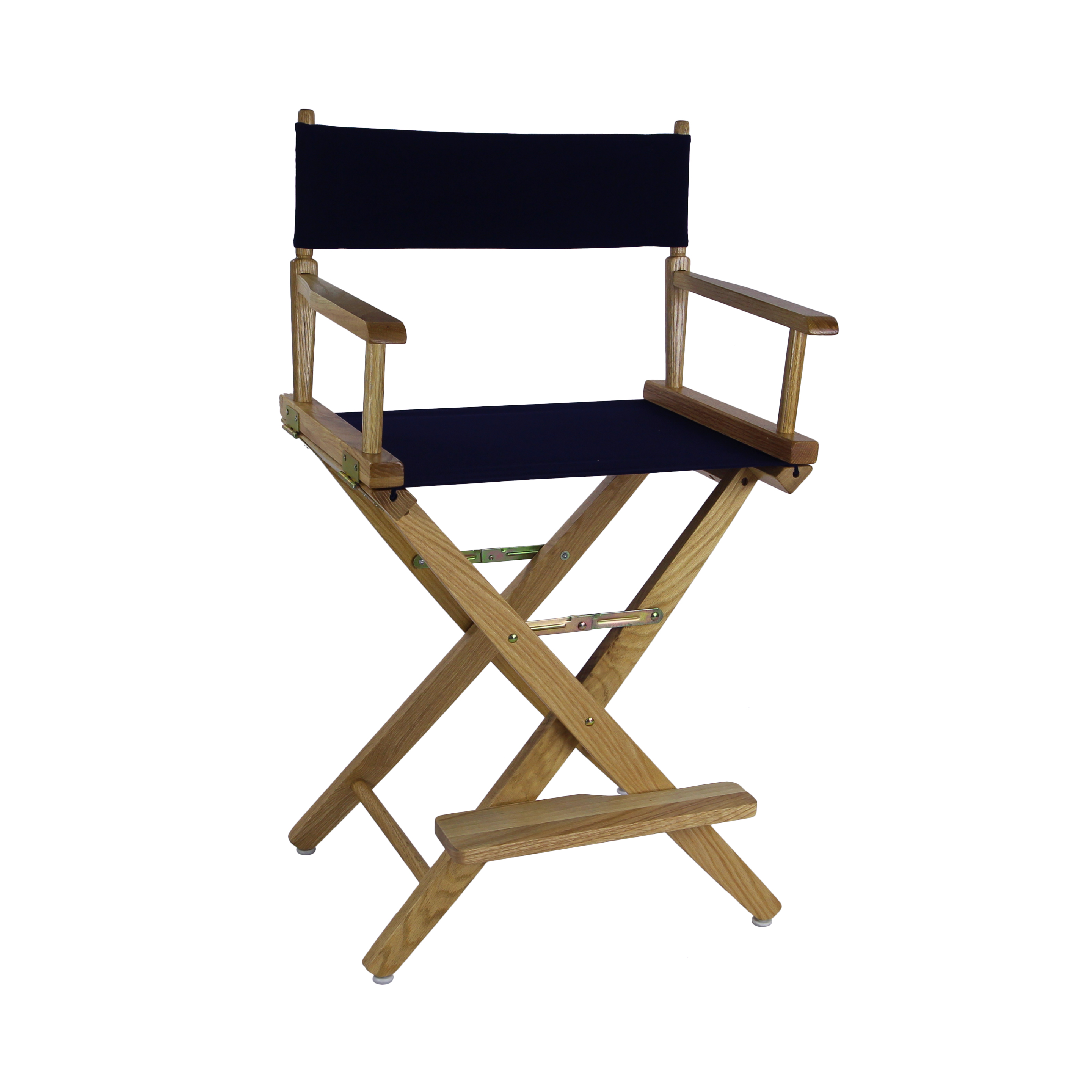 "American Trails Extra-Wide Premium 24"" Directors Chair Natural Frame w/ Navy Canvas"