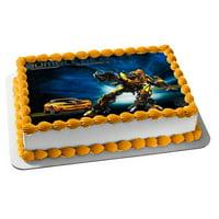 Transformers Bumblebee Car Autobots Edible Cake Topper Image