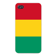 Apple iPhone Custom Case 4 4S White Plastic Snap On - World Country National Flags - Guinea