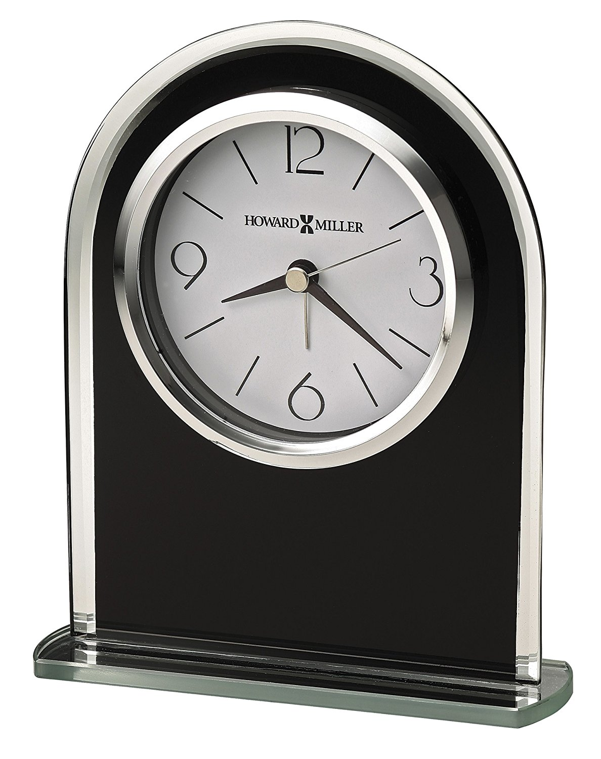 645-702 Ebony Luster Table Clock by, By Howard Miller From USA by