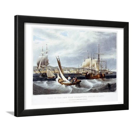 View of New York Quarantine, Staten Island, 1833 Framed Print Wall Art By John (Deli Grocery For Sale In Staten Island)