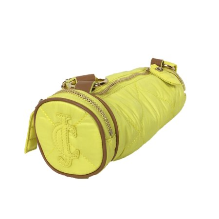 Juicy Couture Hollywood Hideaway Puffy Nylon Barrel Crossbody - Lemon Pop (Juicy Couture Handbags And Purses)