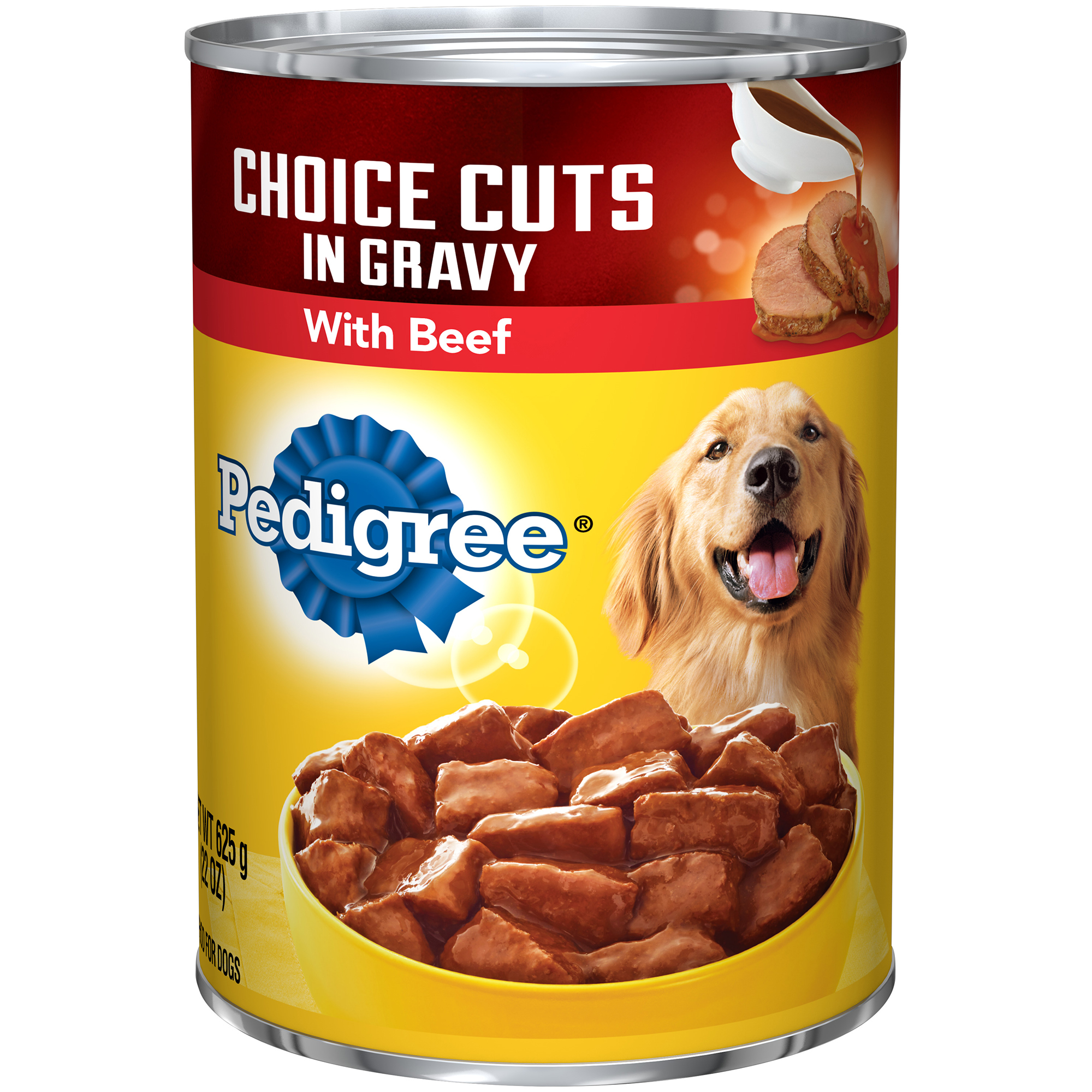 PEDIGREE CHOICE CUTS in Gravy With Beef Canned Dog Food 22 Ounces