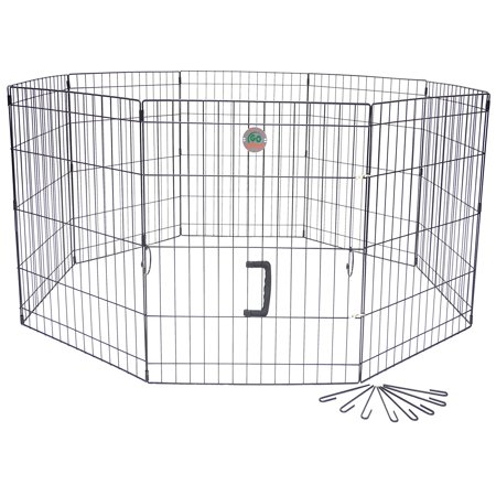 Folding Wire Dog Crate with Divider - Walmart.com