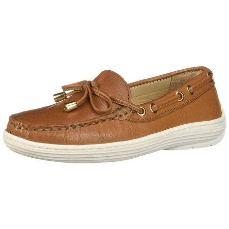 Driver Club Usa Kids' Leather Boys/Girls Casual Comfort Slip On Moccasin -