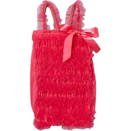 Wenchoice Girl's Hot Pink Ruffle Top - S(1T-2T) (Hot Pink Ruffle)