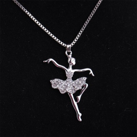 - Dancer Ballet Dance Pendant Necklace Charm Girl Christmas Valentine's Gift