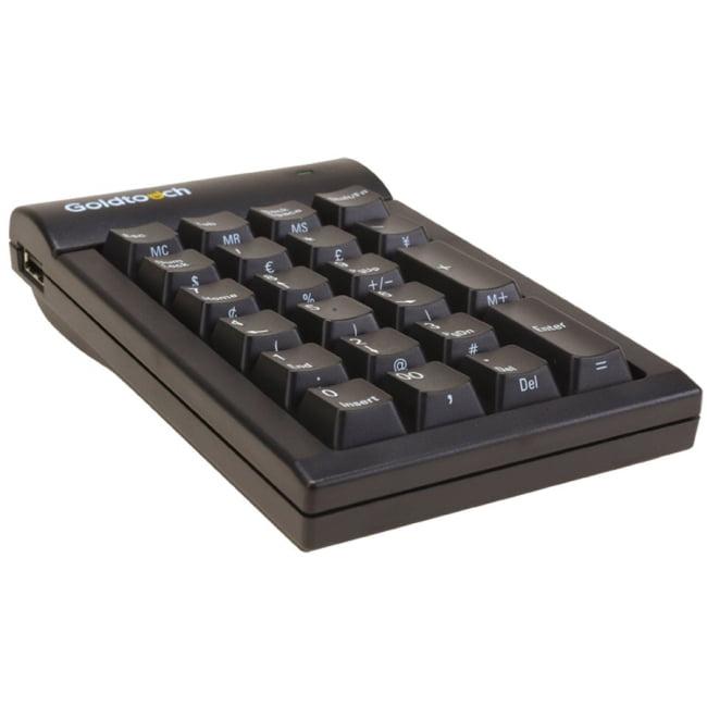 Goldtouch GTC-MACB Numeric Keypad USB Black Macintosh by Ergoguys - USB - 22 Key - Mac
