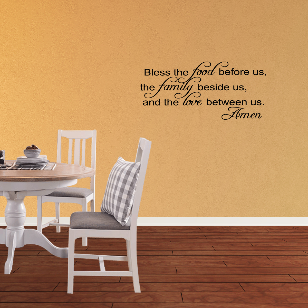 ba9d7fc9e0e Bless The Food Before Us Vinyl Wall Decal Thanksgiving Quotes Home Kitchen Dining  Room Sticker Holiday Fall Decor JR308 - Walmart.com
