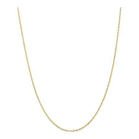 10k Yellow Gold 1.10mm Singapore Chain - image 5 of 5