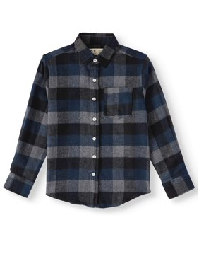 p.s.09 from aeropostale Long Sleeve Brushed Flannel Plaid Shirt (Little Boys & Big Boys)