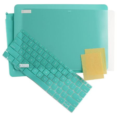 3in1 Rubberized Case Laptop Shell&Keyboard Skin&Screen Protector For Macbook 12