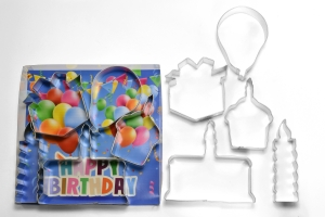 """Party Balloon Shape  Cookie Cutter 3.75/"""" Birthday Party"""