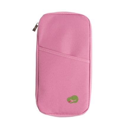 Multi-Functional Travel Passport Package Credit ID Card Cash Wallet Multicolor Holder Case Document Storage Bag Purse Documents Zipper Organizer Unisex ()