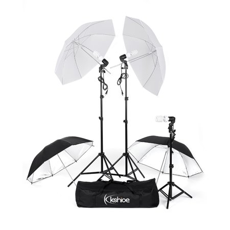 Studio Lighting Umbrella Light - Zimtown 3 Lighting Stand Photography Photo Studio and 4 Umbrella Lighting Kit