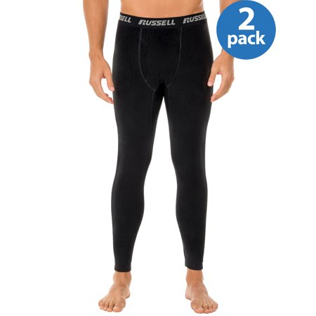 Buy 2 Russell Mens ThermalForce Stretch Fleece Baselayer Thermal Bottom, and Save! ()
