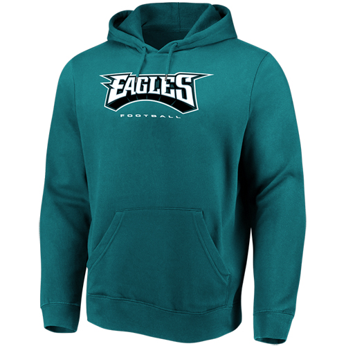 Men's Majestic Midnight Green Philadelphia Eagles Our Team Pullover Hoodie