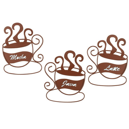 Metal Coffee Cup Wall Art, Set of 3 - Walmart.com