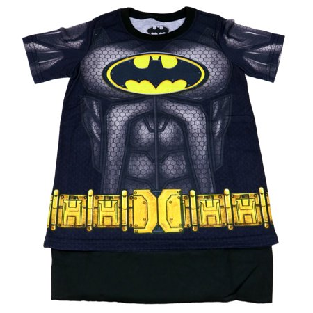 bioworld batman youth boys sublimated cape costume t-shirt (x-large) Costume Youth T-shirt