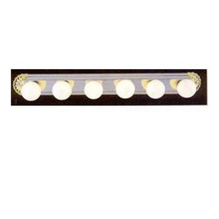 Volume Lighting V1006 6 Light 39 Width Bathroom Vanity Strip
