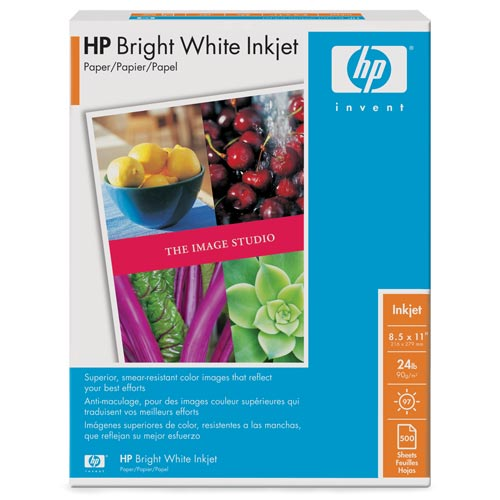 HP HPB1124 Bright White Inkjet Paper, Matte (500 sheets, 8.5 x 11-inch)