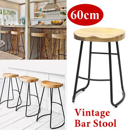Phenomenal 60Cm Metal Wood Bar Stool Retro Barstool Industrial Dining Chair Seat Vintage Onthecornerstone Fun Painted Chair Ideas Images Onthecornerstoneorg