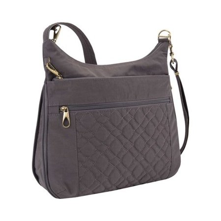 """Travelon Anti-Theft Signature Quilted Expansion Crossbody 12"""" x 12"""" x 2.5"""""""