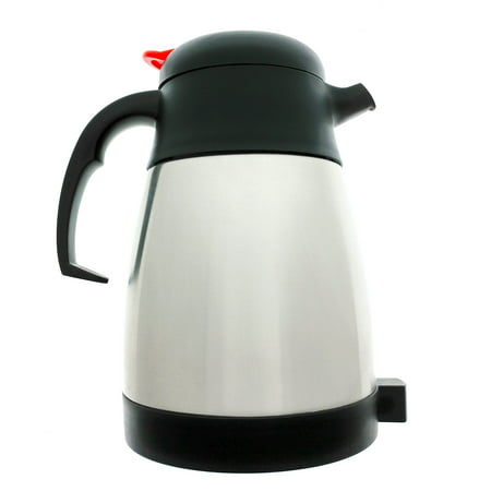 Essential Values Thermal Coffee Carafe For Original Keurig & 2.0 Models, 1L / 32oz Capacity (4-5 Cups) Stainless Steel, Vacuum Insulated For Use With K-Carafe Pods In 2.0 Or Full Size Original Keurig