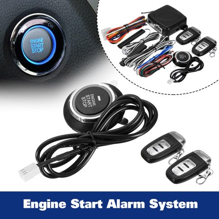 Smart Car Q6C Alarm System Push Button enginestartpushbutton & Remote Start Engine Auto Lock &