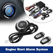 Smart Car Q6C Alarm System Push Button enginestartpushbutton & Remote Start Engine Auto Lock & Unlock