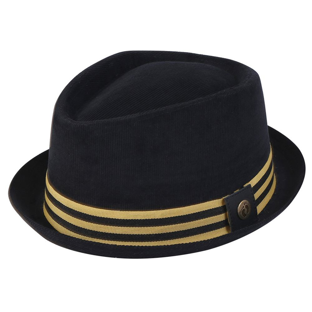 Adult Corduroy Fedora with Antique Brass Rivet 69124a8361a