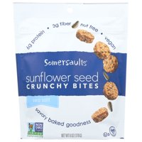 Somersaults Sunflower Seed, Crunchy Bites, Sea Salt, 6 Oz, Pack Of 6