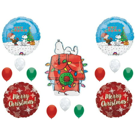 Charlie Brown Peanuts Snoopy Christmas Party Balloons Decoration Supplies - Charlie Brown Halloween Birthday Party