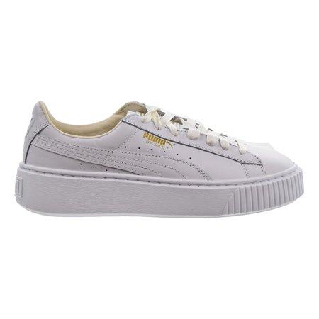 PUMA - Puma Basket Platform Core Women s Shoes Puma White Gold 364040-04 -  Walmart.com e7fd7753f
