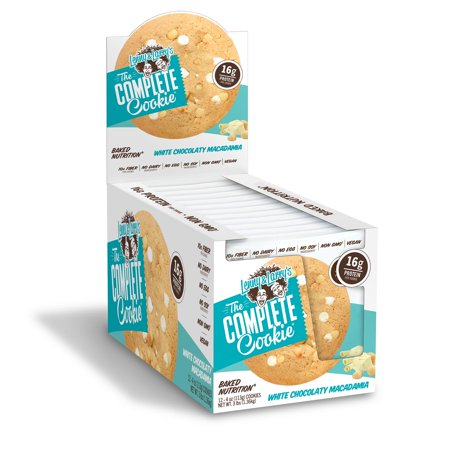 Lenny and Larry's The Complete Cookie, White Chocolate Macadamia, 16g Protein, 12 - Complete Whey Cookies