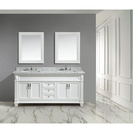 Design Element Hudson 72 in Double Bathroom Vanity Set