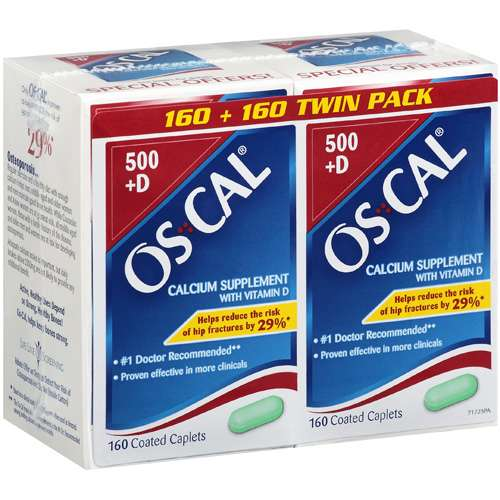 Oscal With Vitamin D 160 Coated Caplets Each Calcium Supplement 2 pk