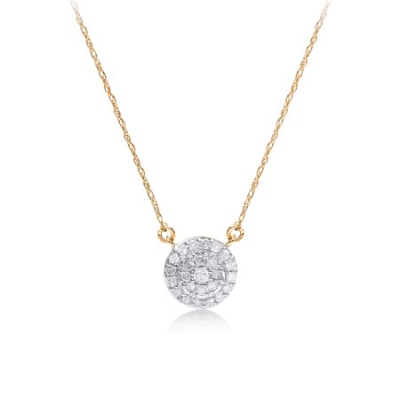 1/5 cttw Round Diamond Pendant Necklace 14kt Yellow