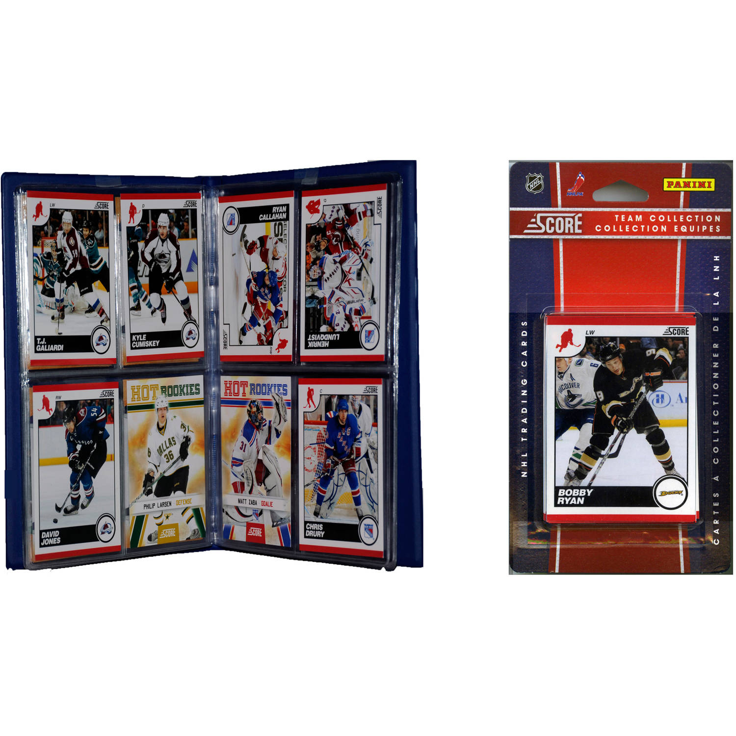 C&I Collectables NHL Anaheim Ducks Licensed 2010 Score Team Set and Storage Album