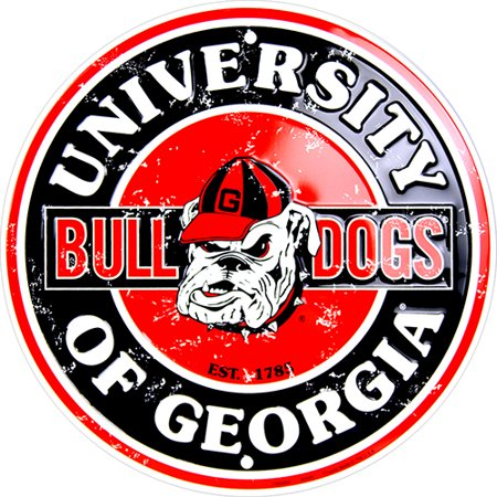 Georgia Bulldogs Neon Sign (Georgia Bulldogs Circle Sign)