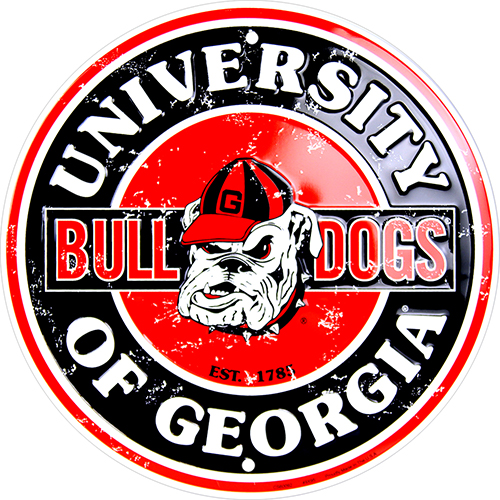 Georgia Bulldogs Circle Sign