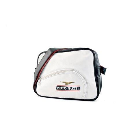 Moto Guzzi GZSB05 Eco-Leather Shoulder Bag - Tank White - 35 x 25 x 11