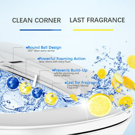 4-in-1 Automatic Rim Hanger Toilet Bowl Cleaner Air Freshener with Scent, 2Pcs/Pack - image 3 of 6