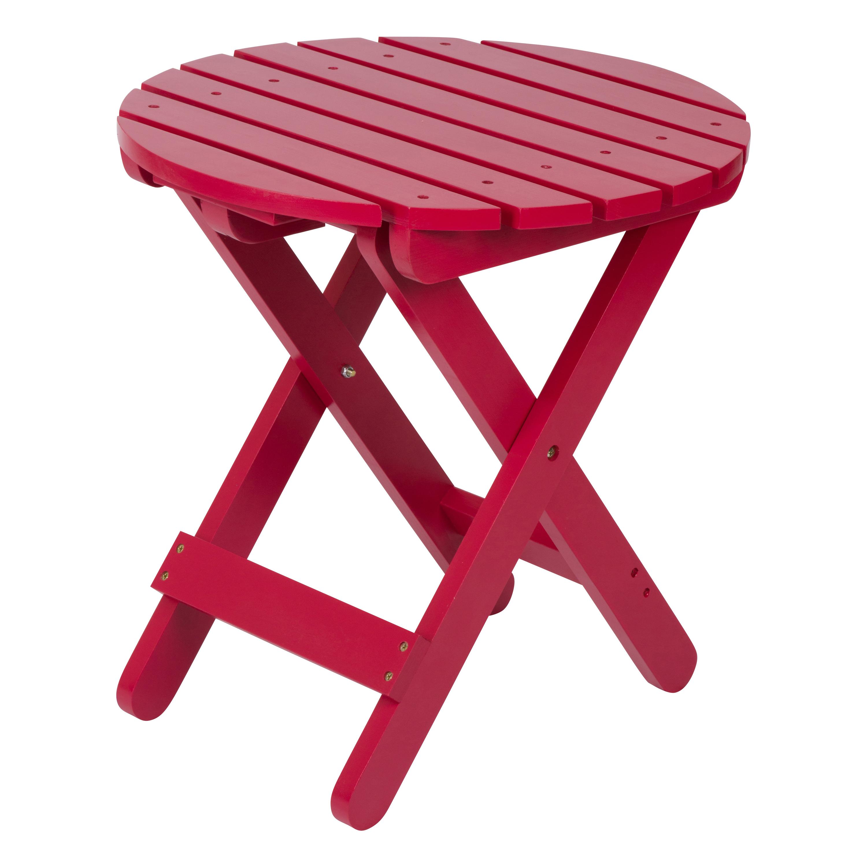 Shine Company Adirondack Round Folding Table - Tomato Red