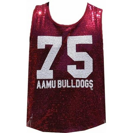 Alabama A&M Bulldogs Ladies Sequins Tank Top [Maroon - S] ()