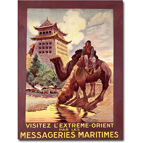 "Trademark Fine Art ""Messageries Maritimes, 1920"" Canvas Wall Art by Ruedolf"