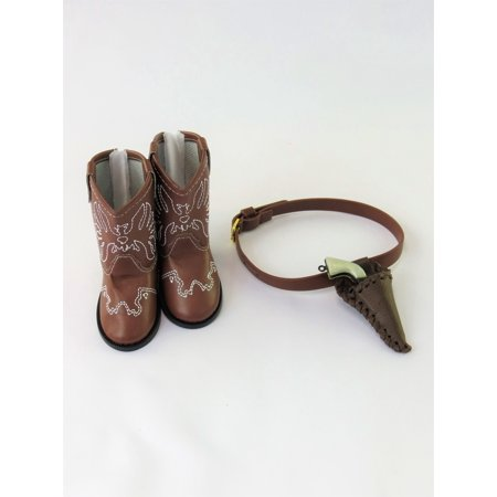 Cowboy Boots with Pistol | 18 Inch Doll Accessories (Iron Dolls)