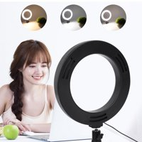 FAGINEY 6 Inch Stepless Dimmable LED Ring Fill Light Studio DSLR Camera Video Lamp for Video Photography Makeup Live Streaming